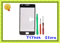 Black New Digitizer Touch Screen Outer Glass Lens For SamSung i9100 Galaxy S2 II