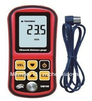 GM100 Ultrasonic Wall Thickness Gauge Meter Tester Steel PVC Digital Testing