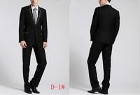 Free Shipping! Hot Sale Fashion Men's Suit Slim Fit Men's Business Suit Set S-4XL Drss Suits