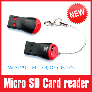 wholesale Mini USB 2.0 Micro SD / TF & M2 Memory Stick Micro Card Reader free shipping(China (Mainland))