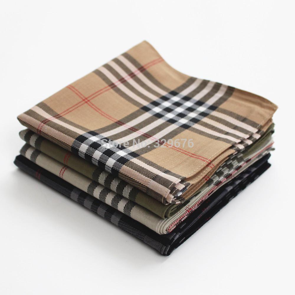 Free shipping font b large b font plaid cotton thick 100 male font b handkerchief b