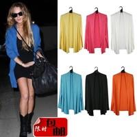 free shipping 2013 Women's fashion modal loose plus size long-sleeve cardigan air conditioning shirt sun protection shirt female