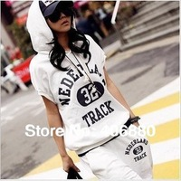 Best selling!!2013 New arrival Women Sport Suit Casual Costume 2pcs Sets Ladies Tracksuit+Free shipping