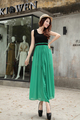 bohemia women korean vest chiffon dress U neck pleated sleeveless summer beach casual hot je 290
