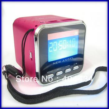 new angel speaker CX-A08 Display screen with U-disk slot TF/micro sd card slot FM radio 150pcs/lot