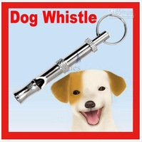 High quality Pet Training Adjustable Ultrasonic Sound Key chain Dog Whistle 2Pcs/lot HG955