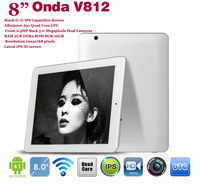 "Free shipping! 2GB RAM DDR3 16GB ROM  IPS Screen 1024x768 Quad coreOnda Android 4.1 V812 8"" IPS III Allwinner A31 camera 5.0MP"