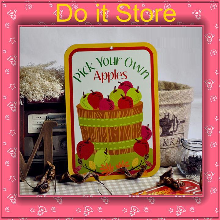 Keuken Decoratie Appel : eigen appels keuken vintage ijzeren schilderijen muur decoratie appel