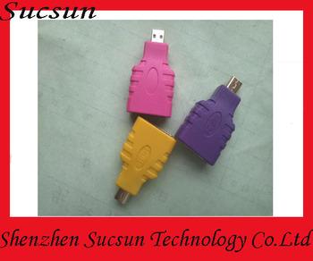 200pcs/lot Colored HDMI audio adapter Mini USB to HDMI converter AV audio voice adapter