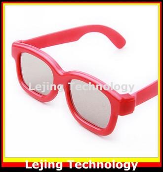 Children 3D Polarized Glasses Random Color With Glasses Case High Quality
