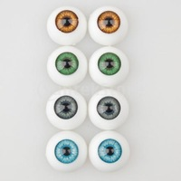 Free Shipping  8 Pcs Half Round Hollow Acrylic Doll Dollfie Eyes Eyeballs 16mm