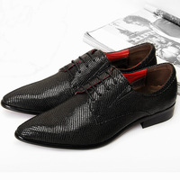 Free shipping genuine leather shoes men, male dress shoes office shoes lace-up solid black oxford shoes