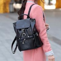 Casual genuine leather cowhide women's backpack handbag preppy style school bag travel backpack travel bag