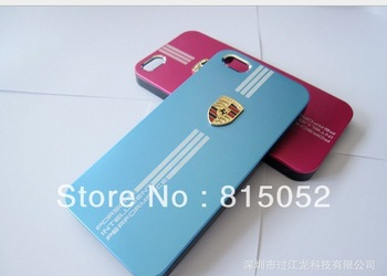 20pcs/lot sport car  Metal back shell case for Iphone 5  free shipping