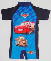 Free Shipping First-Class Quality Baby boys Toy Story Surf Clothing Kids Cartoon Rash Guard Short Sleeve Swim Suit One piece