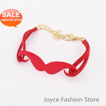 Min. Order $10,New Fashion Bracelet 2013,Vintage Love Charm Moustache Beard Bracelet,Arm Candy Bracelets Fashion Bangle,B07