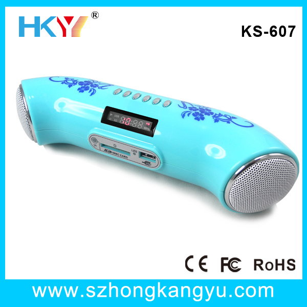 Pipe shape MP3 Card Speaker with private mould(China (Mainland))