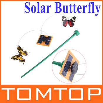 Solar Gift Power Flying Butterfly Garden Yard Decoration,3 pcs/lot , Freeshipping Dropshipping Wholesale