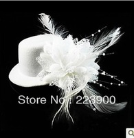 Free Shipping Hot Sale 2013 WhiteFlower Fur  Bridal  Wedding Hat Accessories