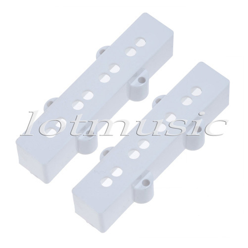 2pcs Jazz J Bass Pickup Bridge Cover 95MM Open Style White Plastics High Quality(China (Mainland))