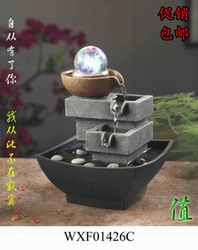 Brief water fountain resin craft water features decoration home accessories(China (Mainland))