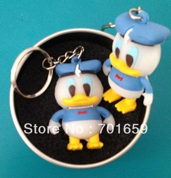 10pcs/lot PVC CUTE cartoon duck usb flash drive  2GB 4GB 8GB 16GB USB memory disk