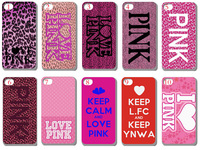 10PCS/LOT(30style) love PINK hard Black case back cover for iPhone 4 4th 4S+free shipping+Retail pacakge -Iphone-