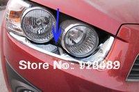 2011 Chevrolet Chevy AVEO ABS Chrome Front Headlight eyebrows Trim
