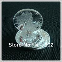 1pcs/lot 2013 .999 1oz  silver replica American libery Eagle Coin ,silver clad plated coin
