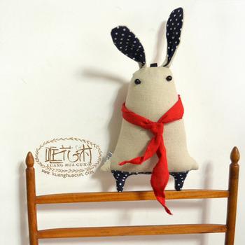 Original Design Lovely Cartoon Animal rabbit handmade Stuffed Animals workmanship Cloth Doll
