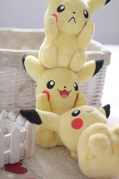 Free Shiping Pokemon plush toy dolls yellow pikachu doll birthday gift kid minnie stitch baby stuffed toy 1
