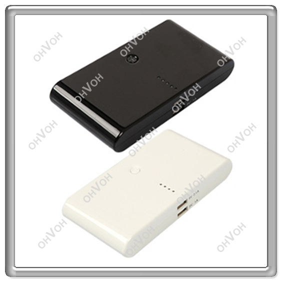 Hot Sale 2 Usb Port 20000mAh Power Bank portable charger External Battery for iphone 5 ipad + Free Shipping(China (Mainland))