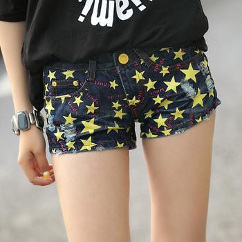 90 short jeans shorts denim women's denim shorts thin