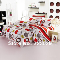 New Arrival 100% Cotton Rounded Geometric Pattern 3 pcs/4 pc Bedding Set, Free Shipping