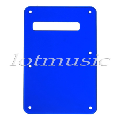 Blue Trem Cover Mirror Back Plate Tremolo Cavity Cover For FD ST Electric Guitar Parts(China (Mainland))
