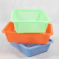 Storage plastic small rectangular storage basket vegetables basket food basket storage basket Free Shipping