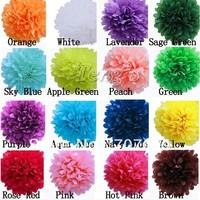 "Free Shipping Tissue Pom Pom 4"" (10cm) Pom Pom Tissue Wedding Party Decor Craft MIX COLORS U PICK 50PCS"