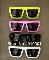 2013 Hot sale Free shipping wholesale lady gaga vintage square style sunglasses  retail sunglass