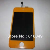 Freeshipping For apple touch 4 Beautiful orange color lcd  Screen, Replacement Part for touch 4,Good Quality!