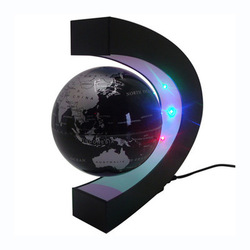 C shape Decoration Magnetic Levitation Floating Globe World Map LED Light cgh(China (Mainland))