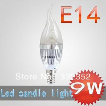 CREE Shipping High power 2X E14 3x3W 9W Dimmable AC85~265V LED Candel Light LED bulb lamp LED spotlight