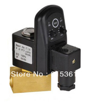 Free Shipping 1/4'' Electric Drain Valve with Timer EDV-08 24-240V Volt