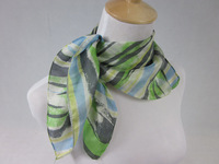 100% silk square small scarf bandana handkerchief spring fashion green desgin for everyone (SF014)