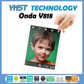 Onda v818 mini pad Quad core Tablet pc Android 4.1 Allwinner A31S 16GB HDMI 4096P dual Camera tablet