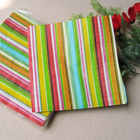 Stripe table napkin paper print tissue tissue 3.5 bag 10 bag(China (Mainland))