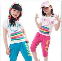 Children's clothing set child sports set female child set tz1611