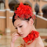 2013 accounterment red hair accessory flower - the bride hair accessory bridal hairpin