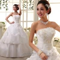 Free Shipping!New Arrival Noble Elegance Princess Handmade Flowers Wedding Formal Dresses