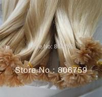 "1g/s 18"" 20"" 22"" 24"" Keratin nail tip hair/ U tip hair extension #24 medium blond color 100gram/pack STOCK"