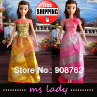 Princess Dress for Barbie Doll Princess Wear for Doll Clothes Gift for Girls Christmas Gift 5pcs/lot HK Airmail